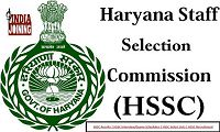 Haryana Staff Selection Commission Recruitment Results