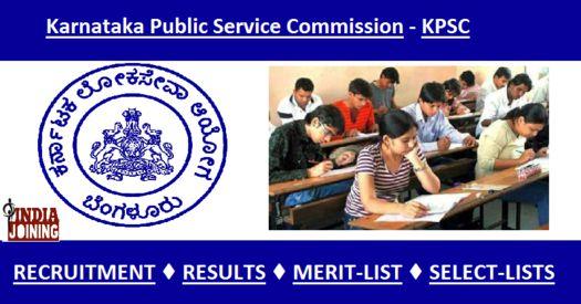 Karnataka Public Service Commission Results Recruitment