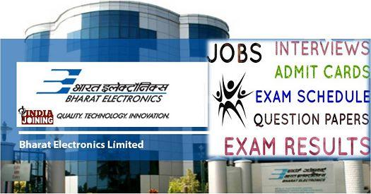 Bharat Electronics Ltd Recruitment Results Latest List