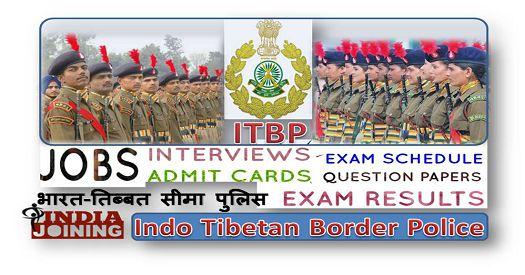 Indo Tibetan Border Police Results Latest List