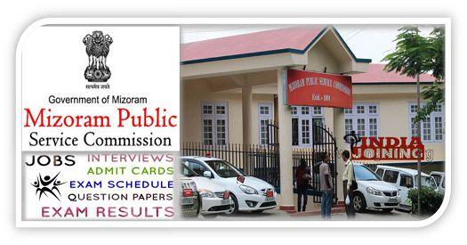 Mizoram Public Service Commission Recruitment List